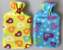 soft flower fleece bag cover for BS hot water bottle
