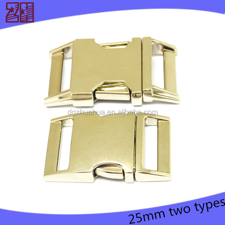 1 inch side release buckle,metal bag buckle,safety buckle