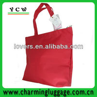 Shenzhen factory promote tote shopping bag in red
