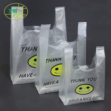 cheap hdpe t-shirt plastic shopping thank you t-shirt bag