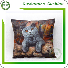 Wholesale Pillow case short plush sofa seat cushion case decorative pillow cover / custom printing cushion covers