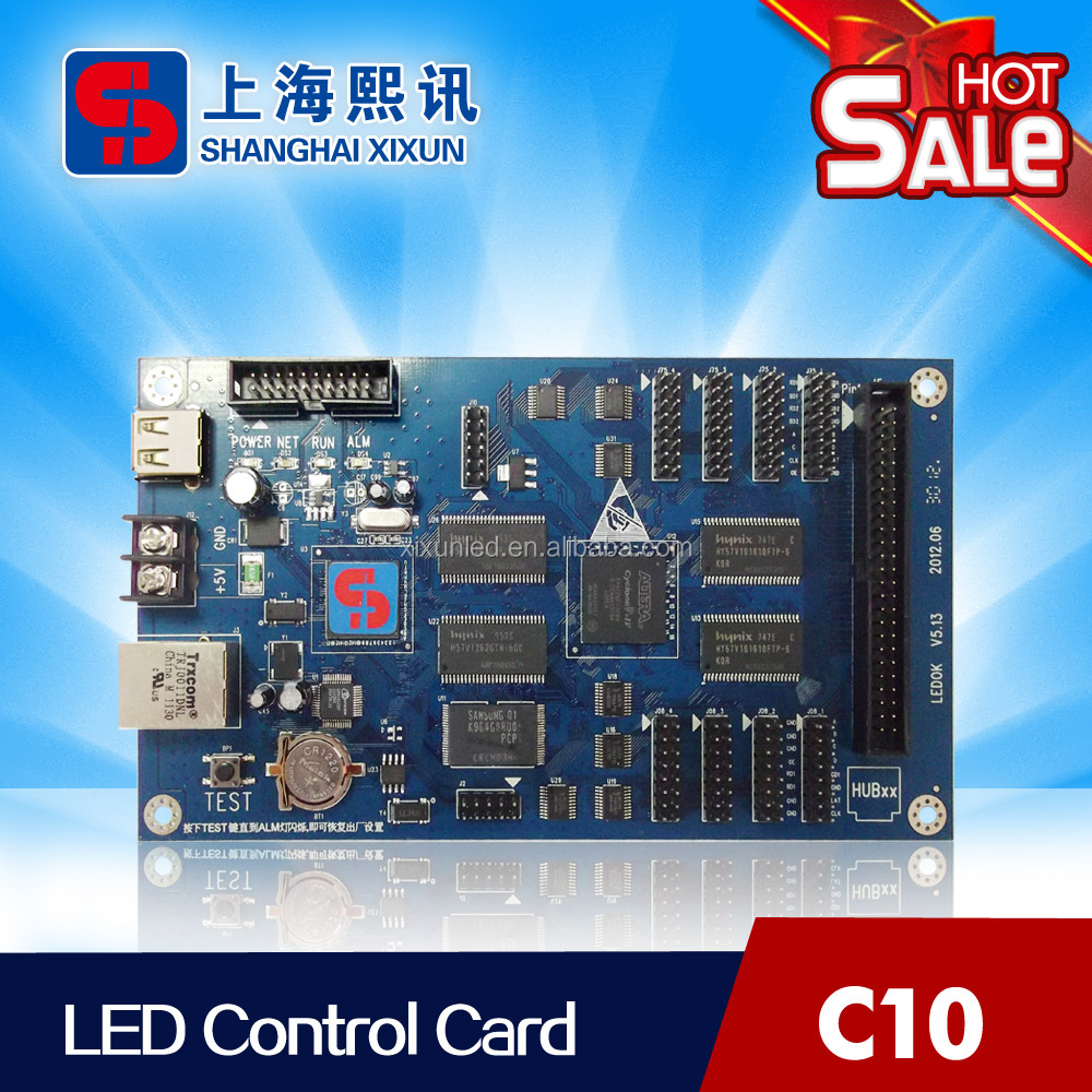RGB Full Color LED Advertising Display Control Card Xixun <strong>C10</strong> For Long Strip Sign