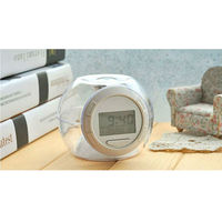 7-color Changing Lights Nature Sounds LED Digital Alarm Snooze Clock with Thermometer & Timer