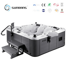 Top qualtity 5 person hrdro massage and freestanding hot tub SPA outdoor with pop-up speakers
