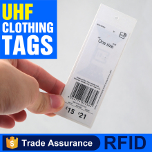 Passive custom 840-960MHz clothing garment rfid UHF sticker label hang tag