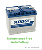 Dry Charged Auto Battery