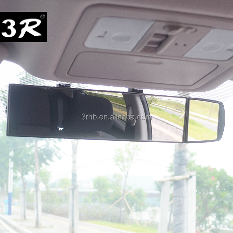 Panoramic wide angle car rearview mirror