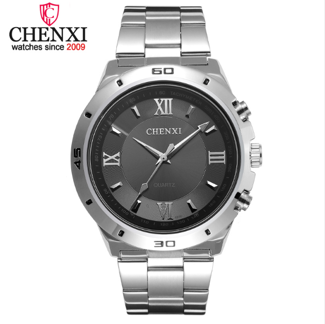 Fashion Creative Men Quartz Watch <strong>Innovation</strong> Roman Numerals Dial Male Wristwatch Precision Steel Strap Man Watches