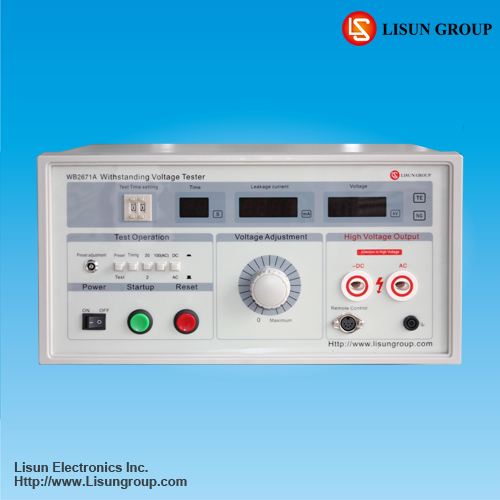 WB2671A AC/DC Withstand Voltage Tester for power frequency voltage withstand test