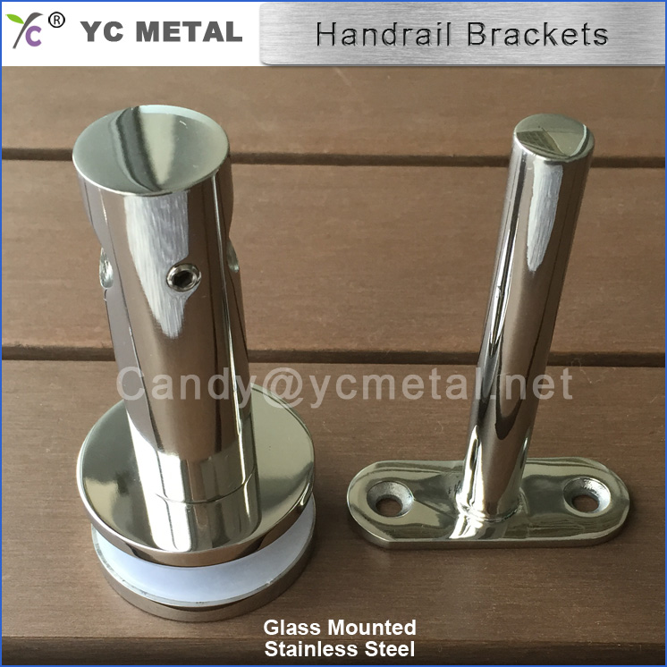 Top Sales 316/304 Stainless Steel Glass Mounted Stair Handrail Brackets