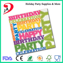 Hot Sale High Quality Birthday Dinner Napkin Cocktail Party Paper Napkins