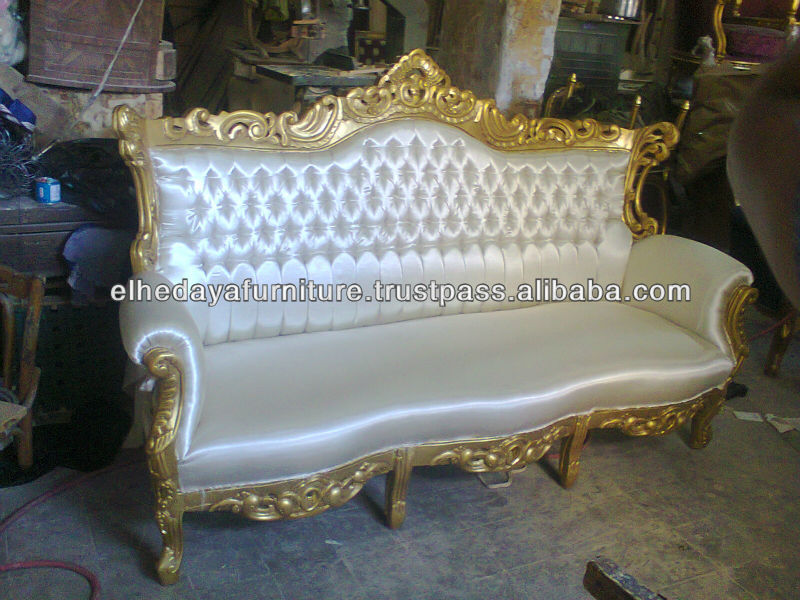 Royal white wedding sofa