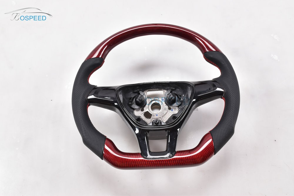 2017 most popularCarbon Fiber racing car steering wheel for VW NEW POLO