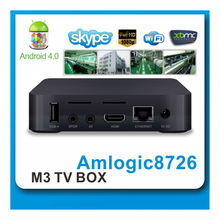 Best single core AML8726-M3 bluetooth HD android 4.0 smart android tv box with wifi 3G 3D