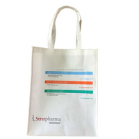 colorful promotional customized silk-screen printing grocery non woven tote bag