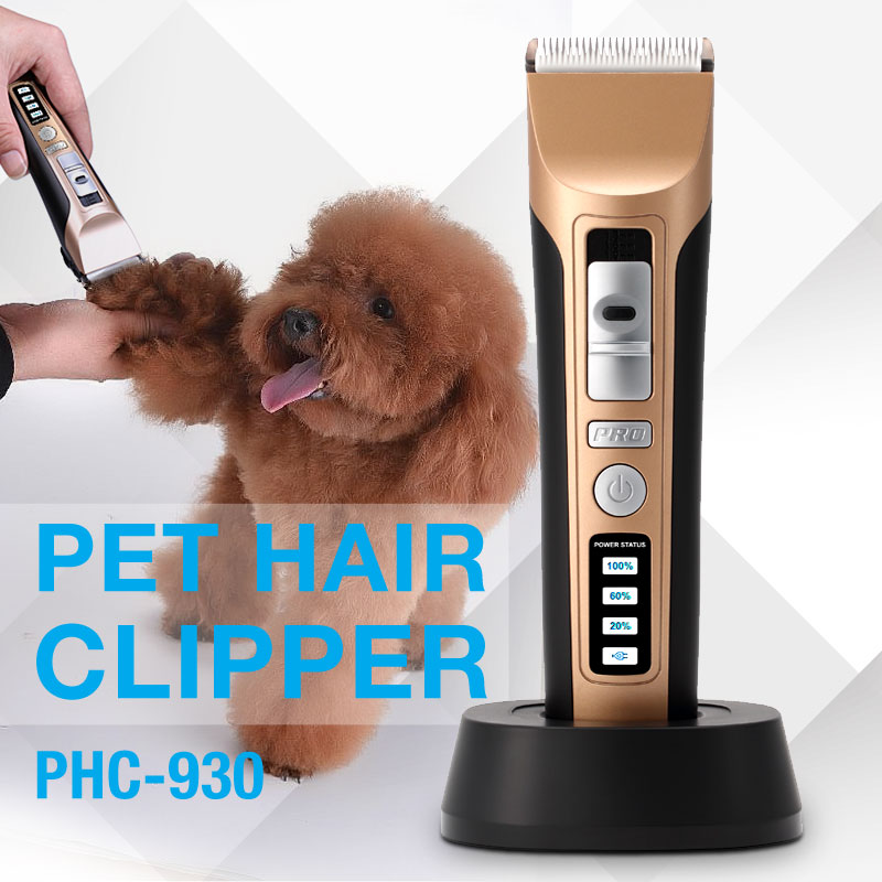 China Factory Dogs and Cats Cordless Electric Pet Hair Trimmer for Quick Safe Cutting