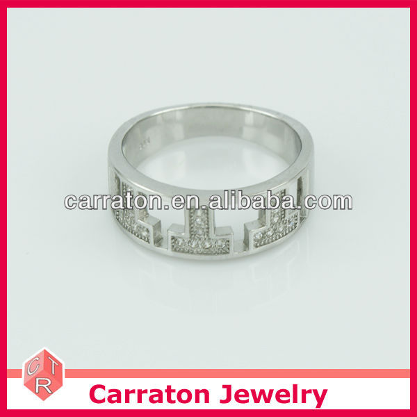 Wholesale 925 Silver Fashion Jewelry Ring With Letter Design