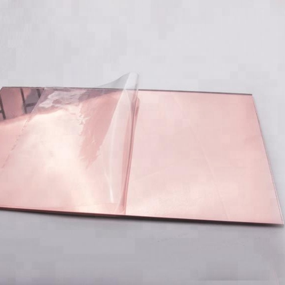 3.0mm 4*6'' Rose Gold Acrylic Mirror <strong>Sheet</strong>, Rose Gold Acrylic Mirror, Flexible mirror <strong>sheet</strong>