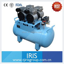 60L Oil free silent Air Compressor for driving sandblasters and dental chairs