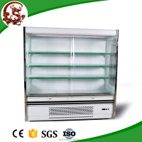 Supermarker used fridge fruits and vegetable display with shelves