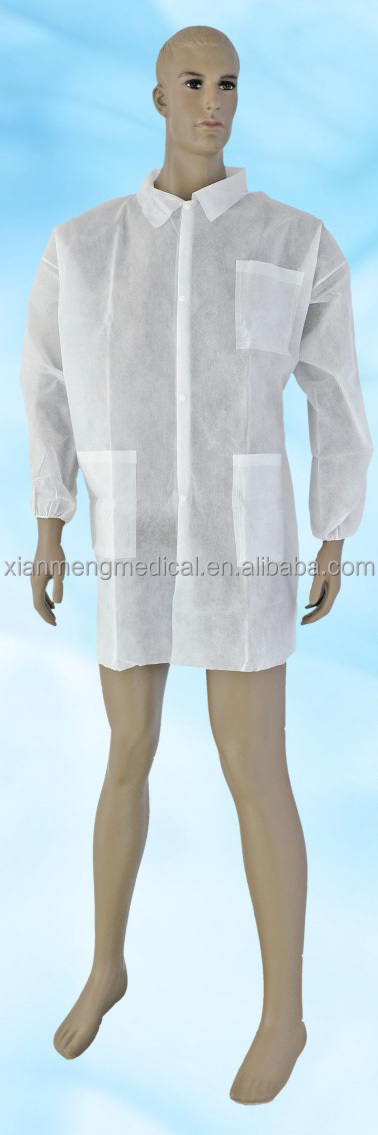 Hubei Xianmeng 20 years experience custom disposable sterile non-woven white surgical gown