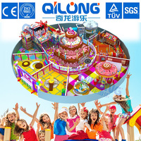 Candy Theme Children Commercial Soft PVC Playground Indoor Playground