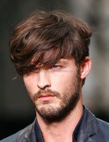 Hot sale soft no sheeding short natural human hair wigs for men