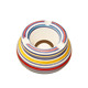 Custom Cheap Colorful Strips Ceramic Outdoor Standing Ashtray