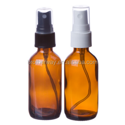 60ml amber color glass boston bottle with pump sprayer
