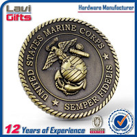 Unite Stated 3D metal marine corps coin eagle design