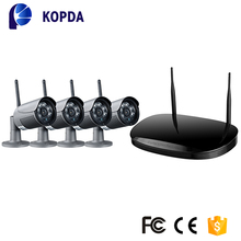 4ch wireless nvr with security camera system outdoor