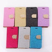 For iPhone 6 6s Luxury Glitter Bling Crystal Diamond PU Leather Wallet Case with Card Slots Cover Shell