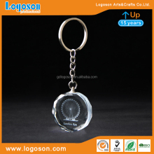 Fantastic Crystal Souvenir Custom White London Eye Round Crystal Key Chain