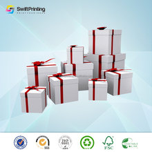 High quality latest printing paper card gift box pattern