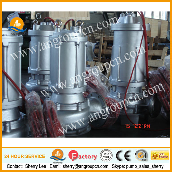 stainless steel submersible sewage pump/centrifugal pump manufacturers/single phase submersible motor
