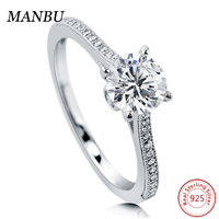 925 Sterling Silver Round CZ Solitaire Ring jewelry R503