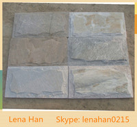 Mushroom Stone yellow Slate Tiles & Slabs for Wall Cladding in China