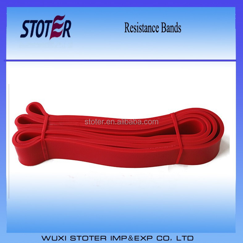 resistance bands with private logo customized bands red color bands