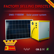 All in one Good price high efficiency 1000 watt solar power system with battery/solar controller/solar panel/inverter