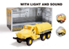 hot sale with light and sound plastic military oil truck toy friction truck model for kids