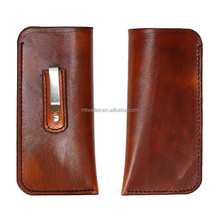 Cheap Price Custom Genuine Leather Slim Glasses Case