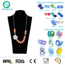 China Manufacturer Custom High Quality Baby Teether Beads Silicone Teething Necklace