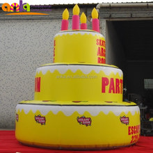 Custom made inflatable birthday cake for birthday or wedding celebration