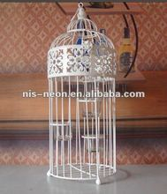 metal decorative birdcage with cups crafts outdoor garden decoration NS-200006