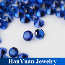 wholesale round shape dark blue loose synthetic diamond 114#spinel