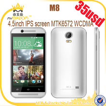 "Cheapest 4.5"" Android 4.4 MTK6572 Dual core 3G mobile phone"