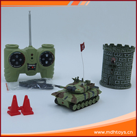 4CH wireless 1:64 scale plastic infrared rc military battle toy tank