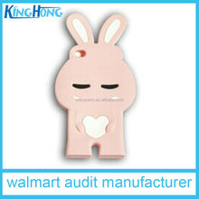 OEM Silicone Phone Cover, shy rabbit phone case,disney audit factory