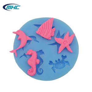 2015 Ocean fish series silicone candy mold , chocolate mold for cake tools