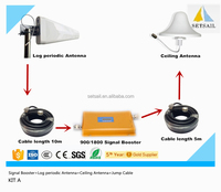 Mobile phone dual band 900/1800MHz gsm signal booster for gsm wcdma home used repeater